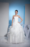 Cinderella Hall Princess Strapless Zipper Organza Bridal Gowns