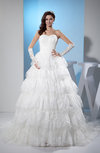 Cinderella Hall Sweetheart Sleeveless Tiered Bridal Gowns