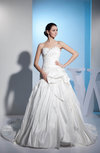 Gorgeous Church Princess Sweetheart Zipper Taffeta Ruching Bridal Gowns