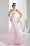 Informal Hall Fit-n-Flare Sweetheart Sleeveless Appliques Bridal Gowns