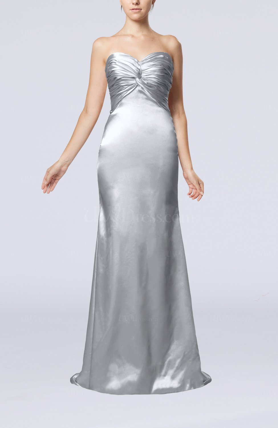 46be7bf0a0dd Silver Sexy Trumpet Sweetheart Sleeveless Sweep Train Bridesmaid ...