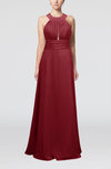 Informal A-line Sleeveless Zip up Chiffon Homecoming Dresses