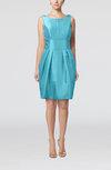 Plain Scoop Taffeta Mini Bow Bridesmaid Dresses