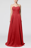Simple A-line Sweetheart Sleeveless Brush Train Bridesmaid Dresses