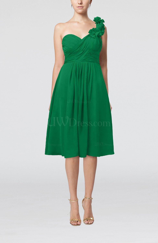 ec1b37855b33 Green Romantic A-line Sleeveless Zipper Chiffon Tea Length Bridesmaid  Dresses (Style D08831)