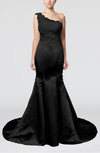 Gorgeous Outdoor Fit-n-Flare Asymmetric Neckline Sleeveless Zipper Appliques Bridal Gowns