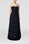 Elegant Strapless Sleeveless Zipper Taffeta Ruching Prom Dresses