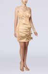 Modern Column Sweetheart Taffeta Appliques Party Dresses