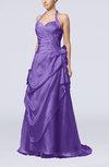 Gorgeous A-line Sweetheart Backless Taffeta Paillette Evening Dresses