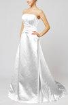 Elegant Hall Sleeveless Backless Satin Court Train Beading Bridal Gowns