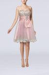 Hawaiian A-line Sweetheart Sleeveless Taffeta Short Prom Dresses