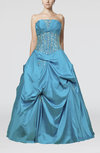 Cinderella Princess Sleeveless Lace up Floor Length Ruching Quinceanera Dresses
