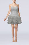 Informal Baby Doll Sleeveless Ruffles Homecoming Dresses