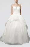 Cinderella Church Ball Gown Sweetheart Chapel Train Paillette Bridal Gowns