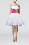 Informal Baby Doll Strapless Sleeveless Zipper Short Homecoming Dresses