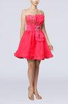 Gorgeous Strapless Sleeveless Organza Mini Club Dresses