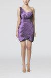 Modern Asymmetric Neckline Sleeveless Taffeta Rhinestone Bridesmaid Dresses