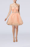Cute A-line Sweetheart Sleeveless Organza Mini Cocktail Dresses