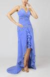 Casual Spaghetti Sleeveless Zipper Knee Length Party Dresses