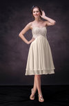 Cute Empire Chiffon Knee Length Rhinestone Bridesmaid Dresses