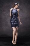 Elegant Column Halter Sleeveless Backless Short Party Dresses