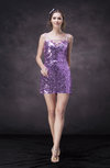 Modern Column Sheer Sleeveless Backless Sequin Club Dresses