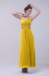 Informal Halter Sleeveless Zip up Ankle Length Sequin Prom Dresses