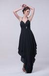Classic A-line Sleeveless Zip up Chiffon Homecoming Dresses