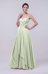 Classic A-line Sleeveless Backless Floor Length Evening Dresses