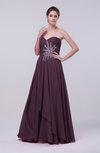 Classic A-line Sleeveless Backless Floor Length Evening Dresses