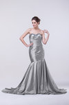 Sexy Trumpet Sweetheart Taffeta Court Train Rhinestone Evening Dresses