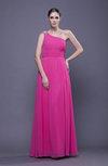Elegant Empire Asymmetric Neckline Sleeveless Zipper Prom Dresses