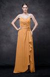 Romantic Illusion Backless Chiffon Flower Wedding Guest Dresses
