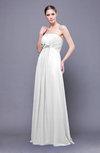 Elegant Empire Sleeveless Zip up Chiffon Sweep Train Bridesmaid Dresses