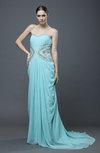 Elegant Column Sweetheart Zipper Pleated Prom Dresses