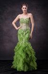 Elegant Mermaid Sweetheart Sleeveless Zip up Appliques Wedding Guest Dresses