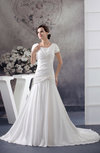 with Sleeves Bridal Gowns Modest Full Figure A line Winter Amazing Summer