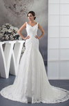 Lace Bridal Gowns Allure Full Figure Sleeveless Fall Amazing Country Formal