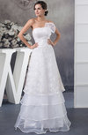 Lace Bridal Gowns Inexpensive Sleeveless Strapless Open Back Organza