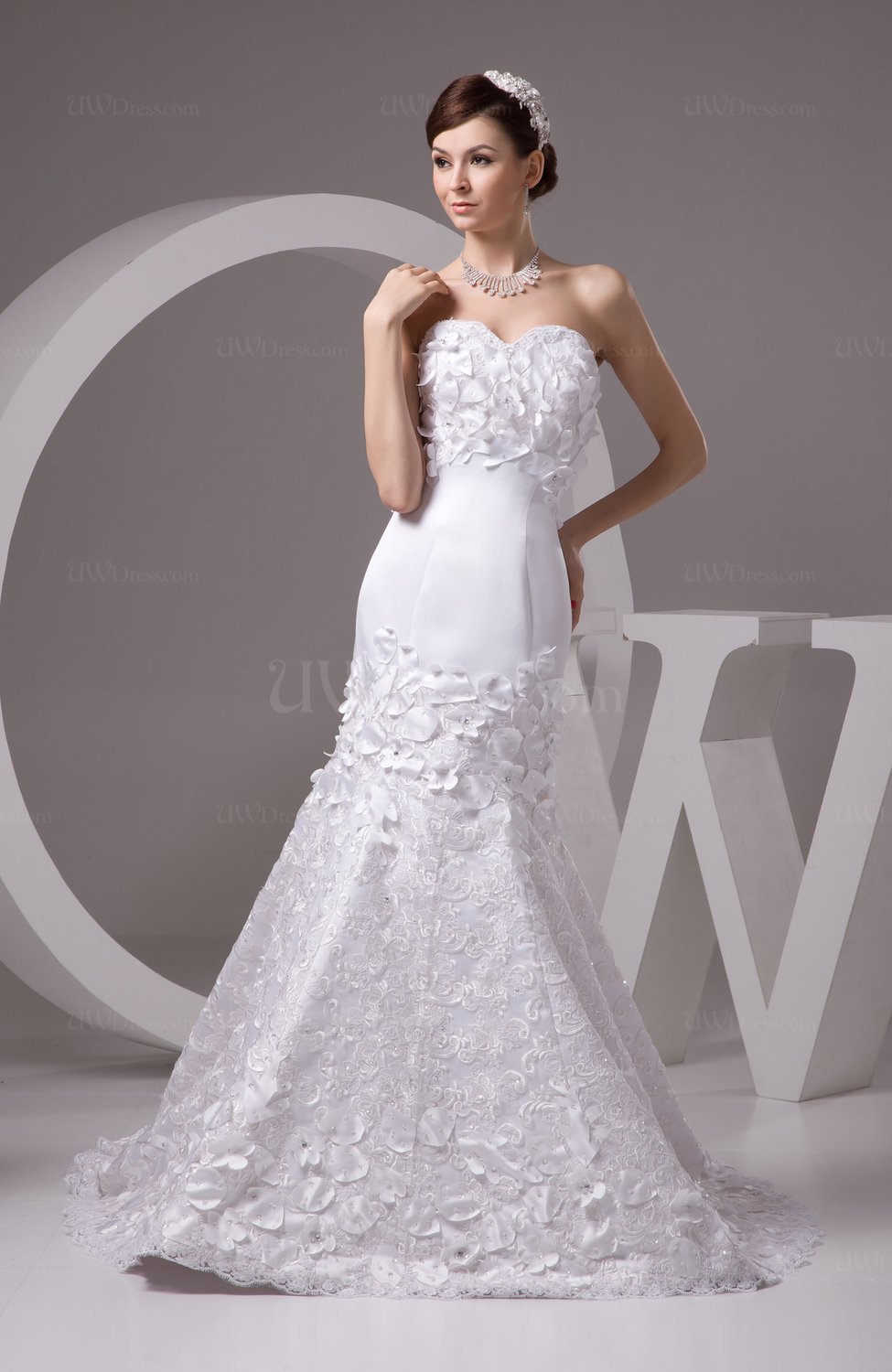 White Allure Bridal Gowns Mermaid Strapless Expensive