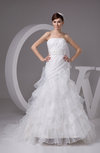 Inexpensive Bridal Gowns Organza Strapless Glamorous Fall Winter Classic