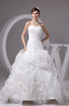 Sleeveless Bridal Gowns Low Back Country Sweetheart Winter Organza Western