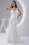 Lace Bridal Gowns Allure Winter Sheath Unique Sleeveless Fall Elegant