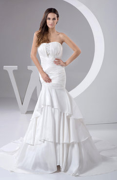 1162a54f747d7 White Allure Bridal Gowns Inexpensive Country Strapless Summer Elegant