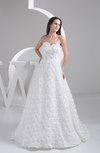 Open Back Bridal Gowns Plus Size A line Sleeveless Strapless Formal Summer