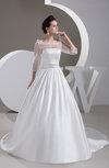 with Sleeves Bridal Gowns Disney Princess Illusion Glamorous Princess