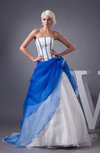 Organza Bridal Gowns Country Open Back Strapless Plus Size Spring Expensive