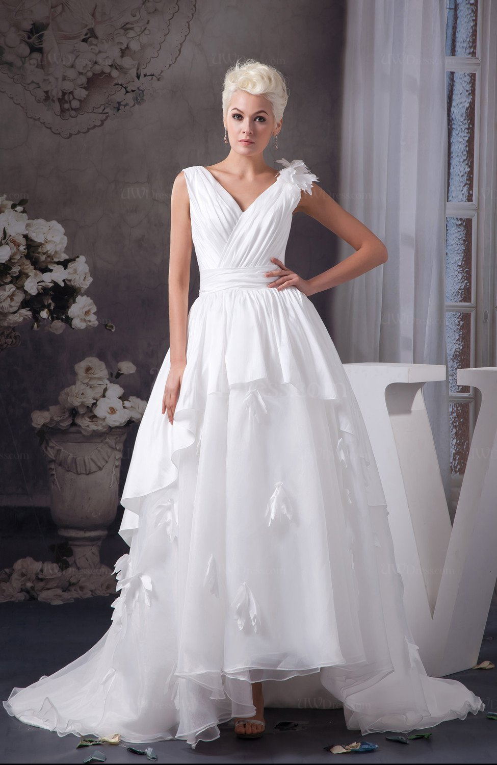 Allure Bridal Gowns Inexpensive Tea Length Fall Country
