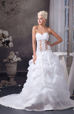 b123c45127a9 White Allure Bridal Gowns Gothic Open Back Modern Mature Sweetheart Fall  Spring