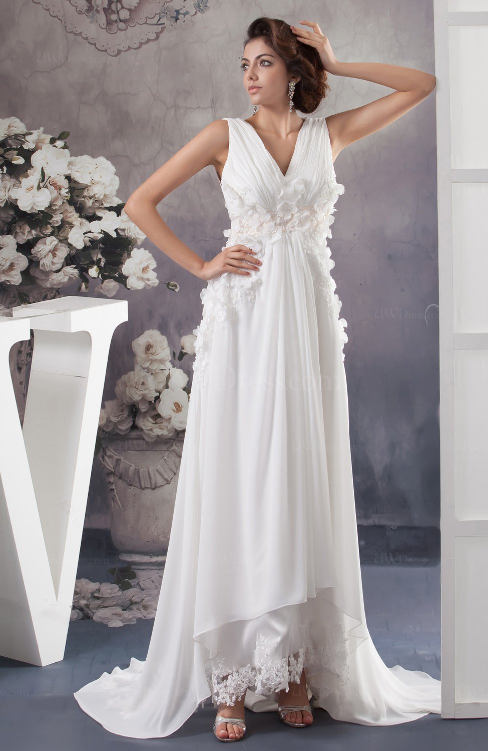 Allure Bridal Gowns Inexpensive Plus Size Spring Empire Casual ...